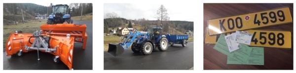 Obec Stříbrná koupila nový traktor s příslušenstvím
