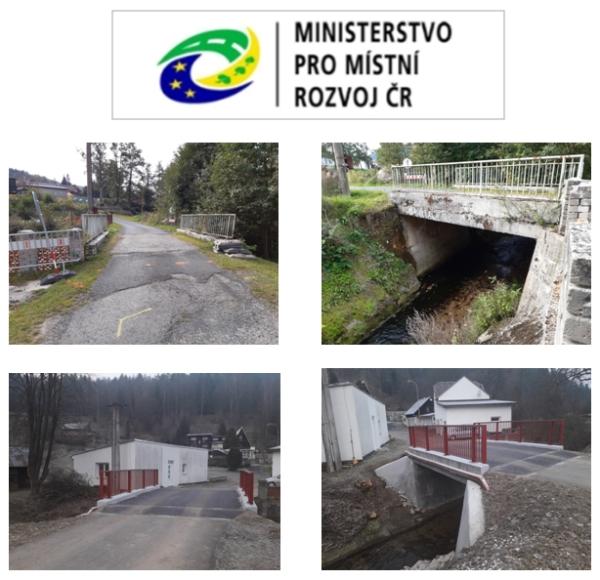 Obec Stříbrná kolaudovala opravu mostu M1 u Chodosu